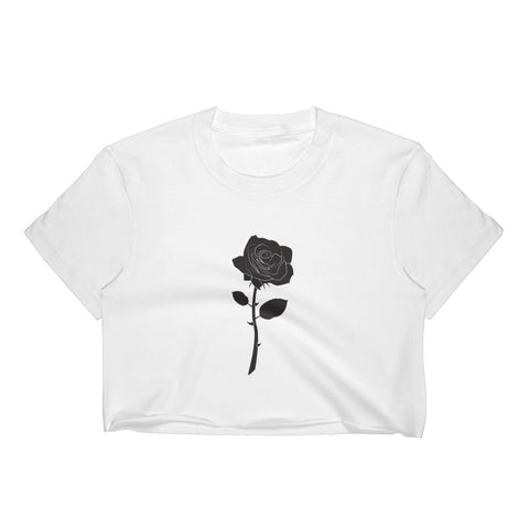 Black Rose Crop Top