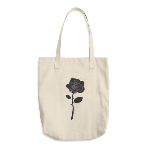 Black Rose Cotton Tote Bag