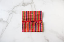 Load image into Gallery viewer, Madagascar Woven Wallet: Orange, Pink and Blue Striped