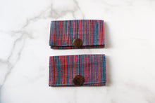 Load image into Gallery viewer, Madagascar Woven Wallet: Blue and Pink Style #1