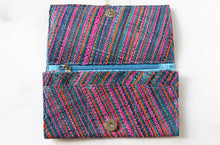 Load image into Gallery viewer, Madagascar Woven Wallet: Blue and Pink Style #2