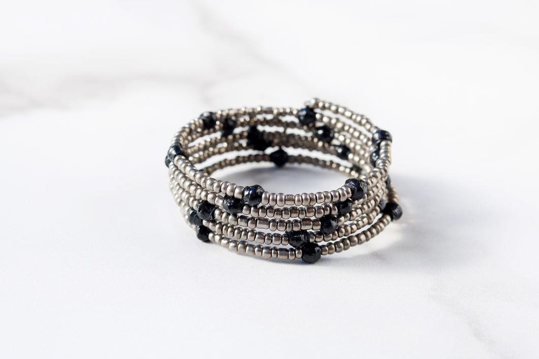 Joyce Bracelet in Black and Silver