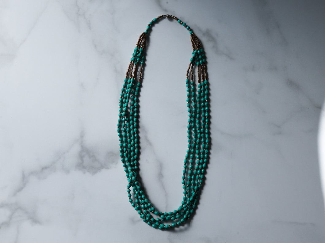 Lemala Necklace in Kelly Green