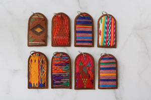 One of a Kind Brown, Yellow and Green Guatemala Luggage Tag