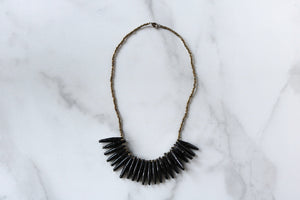 Wildwaters Necklace in Black and Gold