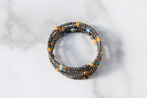Joyce Bracelet in Yellow, Blue and Silver