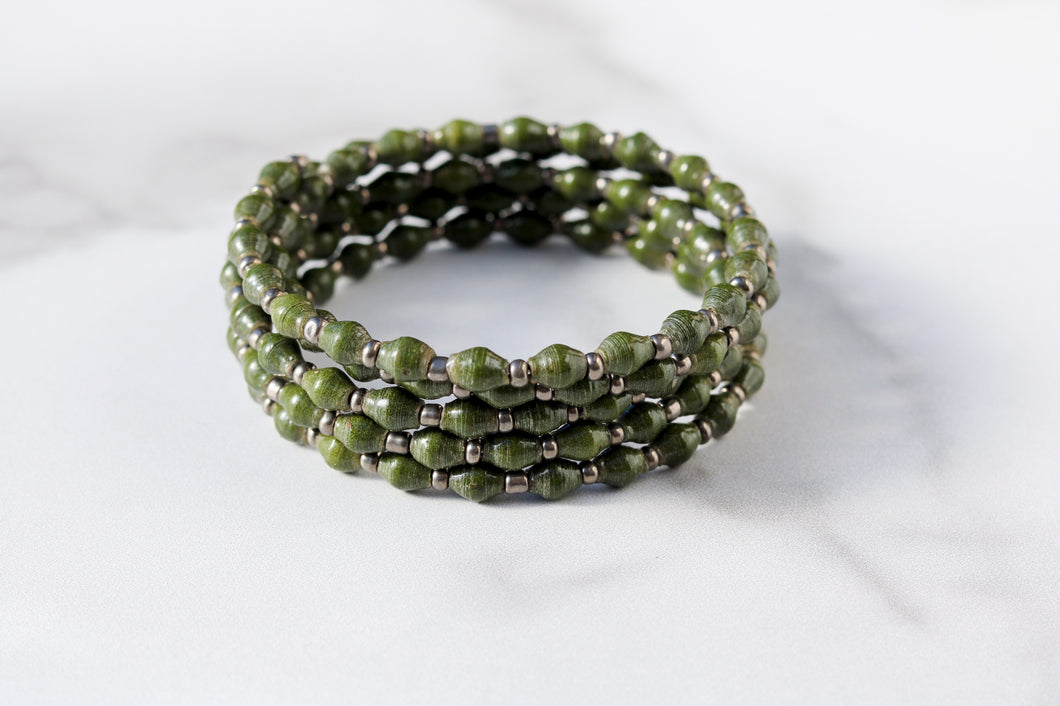 Joyce Bracelet in Dark Green