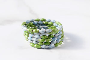 Joyce Bracelet in Sky Blue and Green
