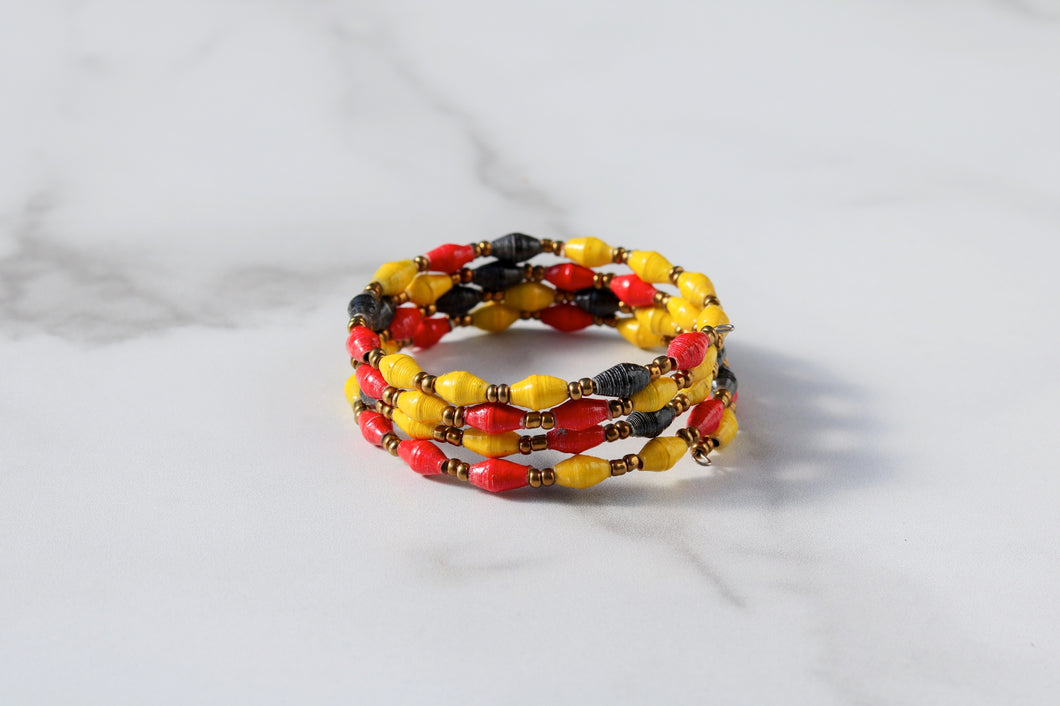 Joyce Bracelet in Yellow, Red and Black