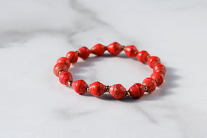 Red Joyce Bracelet Stack