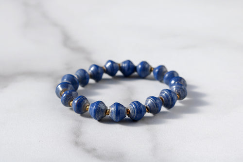Joyce Bracelet Stack in Navy