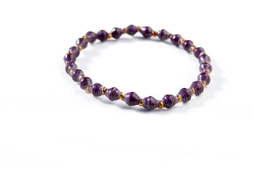 Joyce Bracelet Stack in Plum