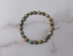 Hope Collection: Natural Amazonite Bracelet
