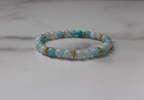 Hope Collection: Blue Agate Bracelet