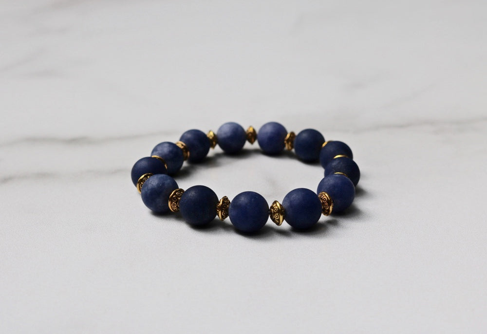 Hope Collection: Blue and Gold Bracelet