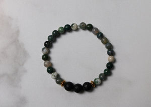 Hope Collection: Jasper and Natural Lava Bead Diffuser Bracelet