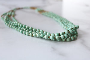 Lemala Necklace in Mint Green
