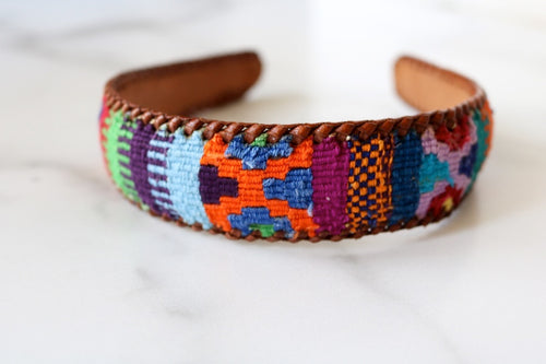 One of a Kind Colorful Woven Headband from Guatemala