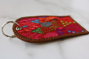 One of a Kind Pink Guatemala Luggage Tag