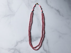 Tarkana Necklace - Pink and Black
