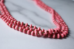 Tarkana Necklace - Pink and Gold