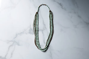 Kamagala Necklace in Mint Green and Gold