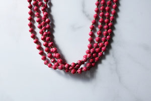 Lemala Necklace in Hot Pink