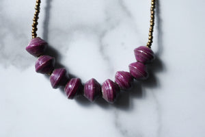 Murchison Necklace in Plum