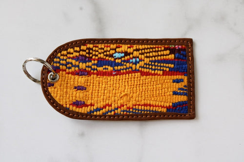 One of a Kind Yellow, Blue and Red Guatemala Luggage Tag