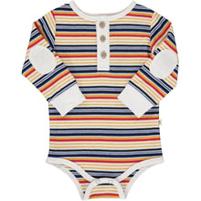 Load image into Gallery viewer, Multi Stripe Henley Onesie