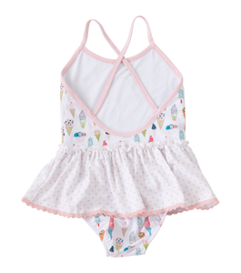 Skirted One Piece Ice Cream Swim