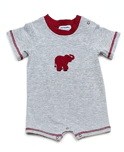 Boys Elephant Romper Collegiate