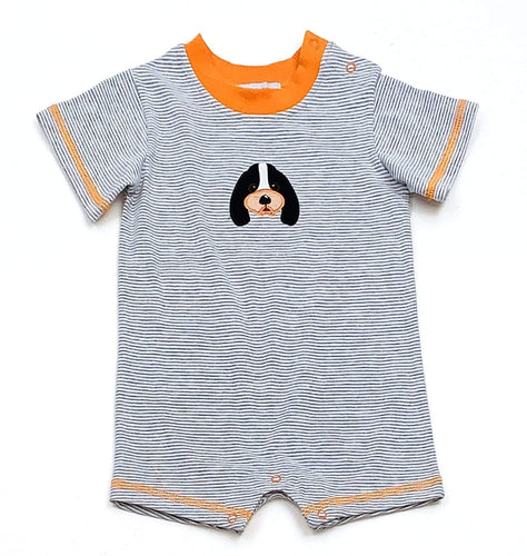 Boys Smokey Dog Romper Collegiate