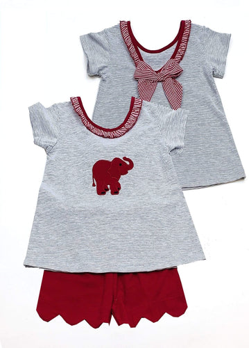 Girls ELEPHANT Short Set Collegiate