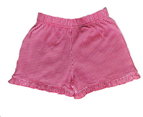 Girl's Red Gingham Shorts