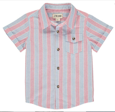 Red/Gray Stripe Woven Shirt