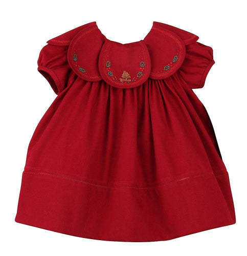 Corduroy Cranberry Pine and Holly Dress
