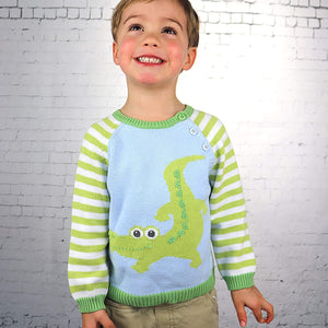 Zubels Alligator Sweater-Zubels-Libby & Puddins