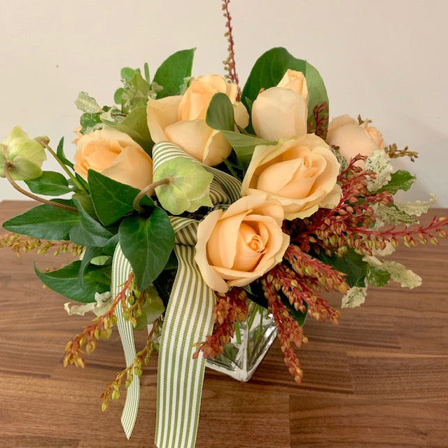 Peach Rose Posy