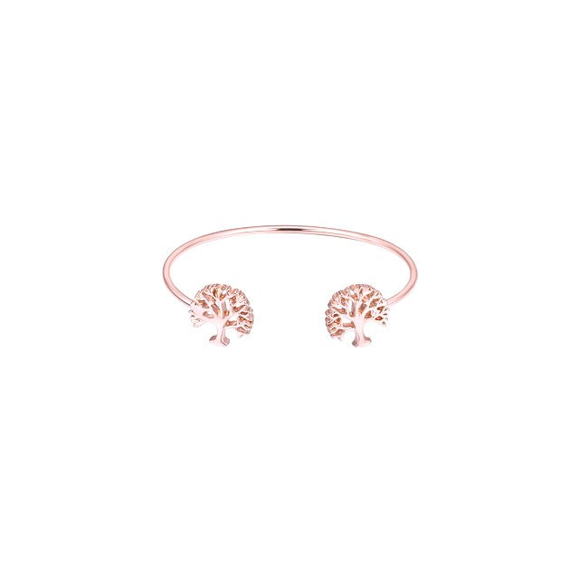Cutout Tree End Rose Gold Bangle