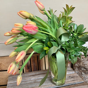 Contemporary Cascading Tulips