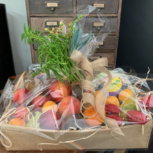 Fruit Hamper with Succulent Trim