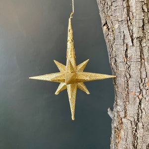 Glittered Star Ornament