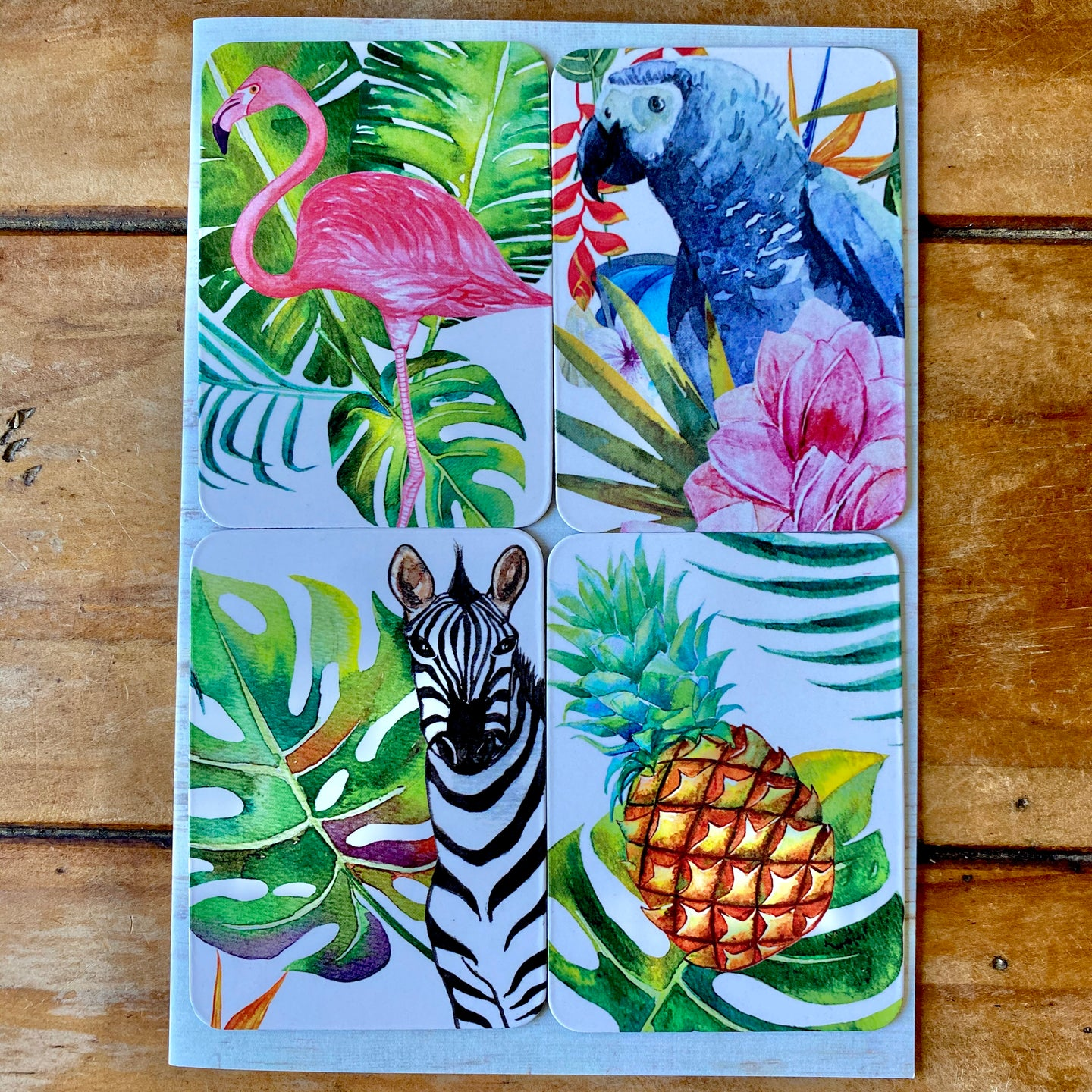 Tropical Removable Magnets Gift Card