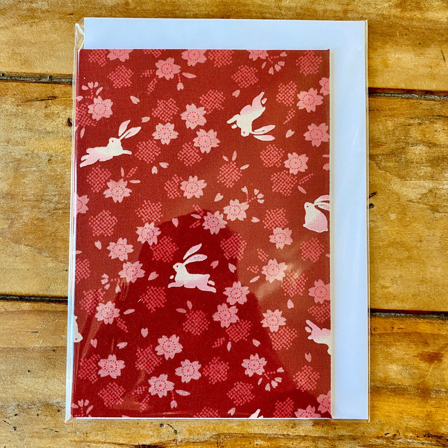 Bunny Rabbit Fabric Gift Card