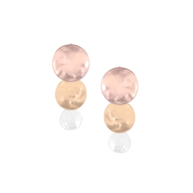 Gradual Disc Drop Clip On Earrings