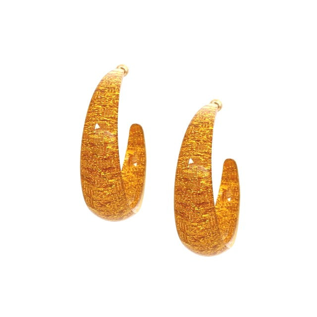 Resin Thick  Hoop Earrings