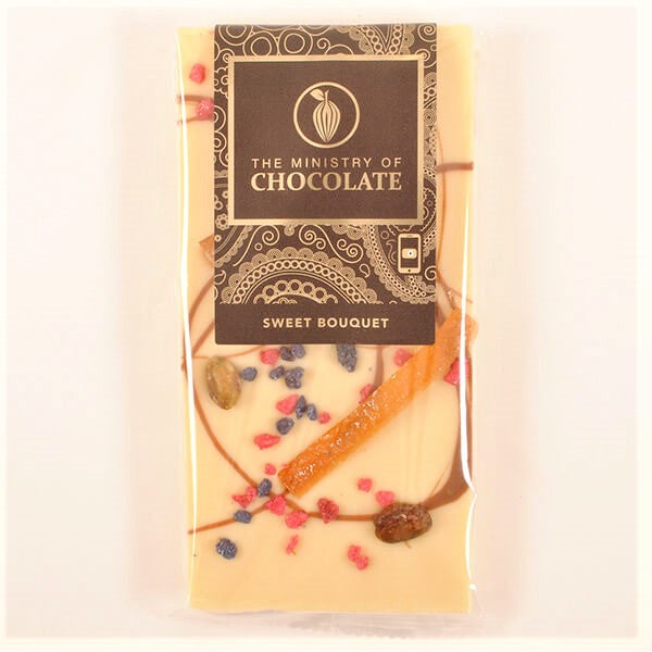 Ministry of Chocolate - Sweet Bouquet – 100g White Chocolate Bar