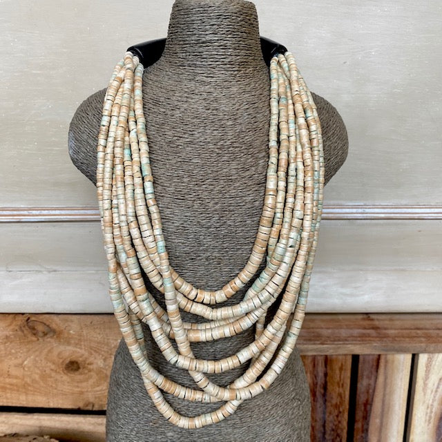 Natural Multi Row Necklace