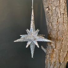 Load image into Gallery viewer, Glittered Star Ornament